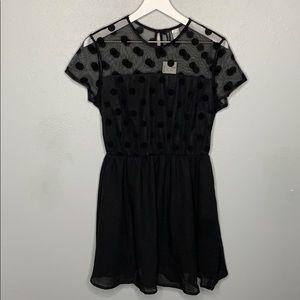H&M Polka Dot Holiday Dress
